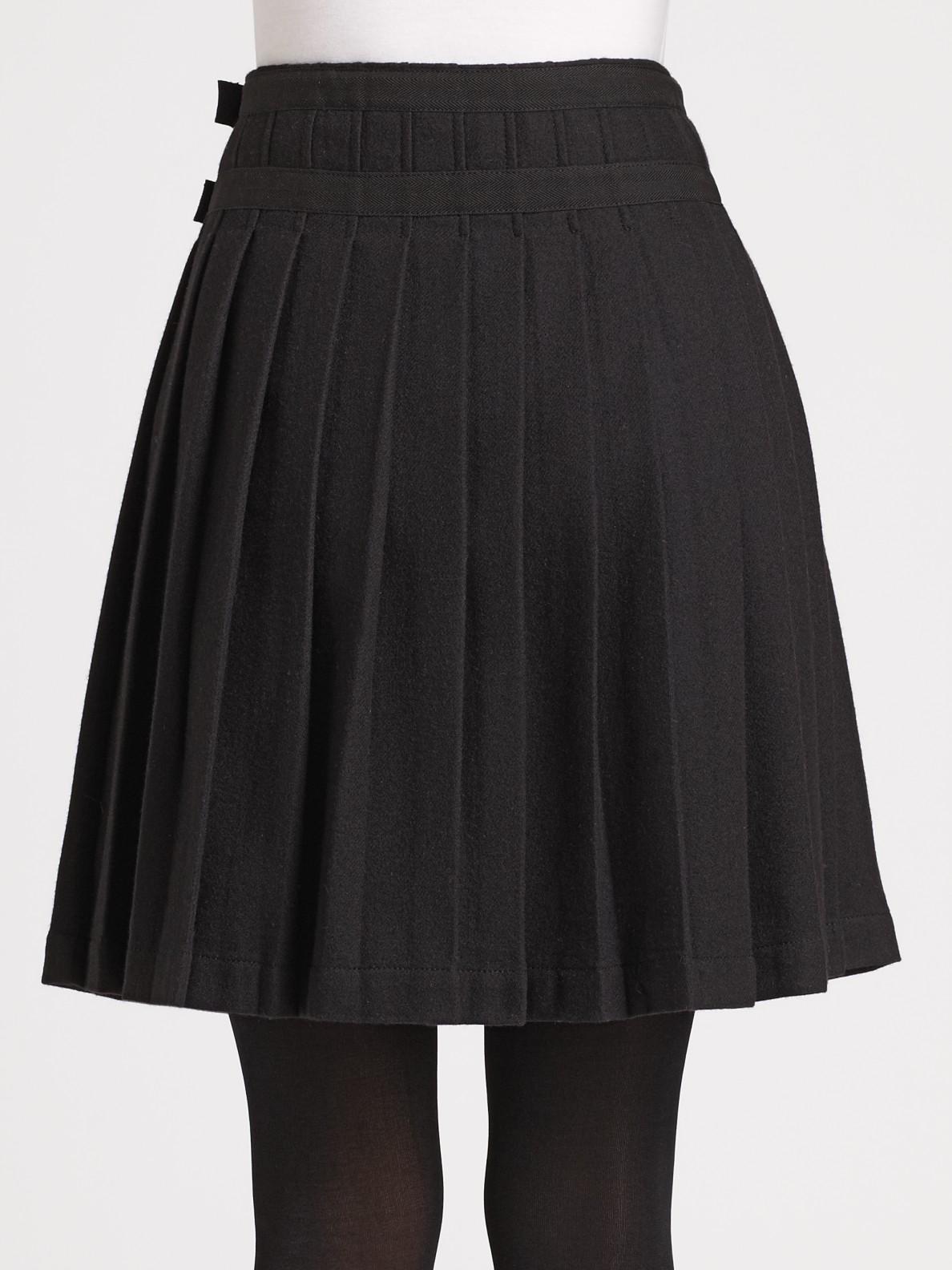 burberry brit pleated kilt skirt in black lyst