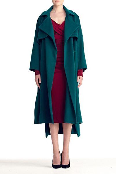 Diane Von Furstenberg Eleanor Coat in Blue (everglade)