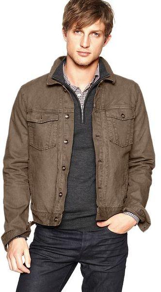 Gap Magnus Denim Jacket In Brown For Men Lyst