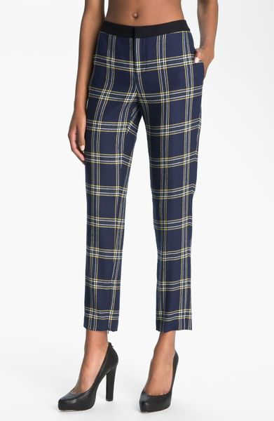 Juicy Couture Eton Plaid Pants in Blue