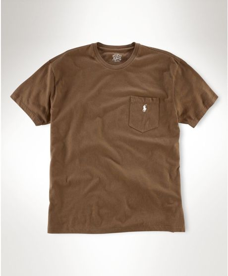 Ralph Lauren Classic Fit Polo T Shirt In Brown For Men