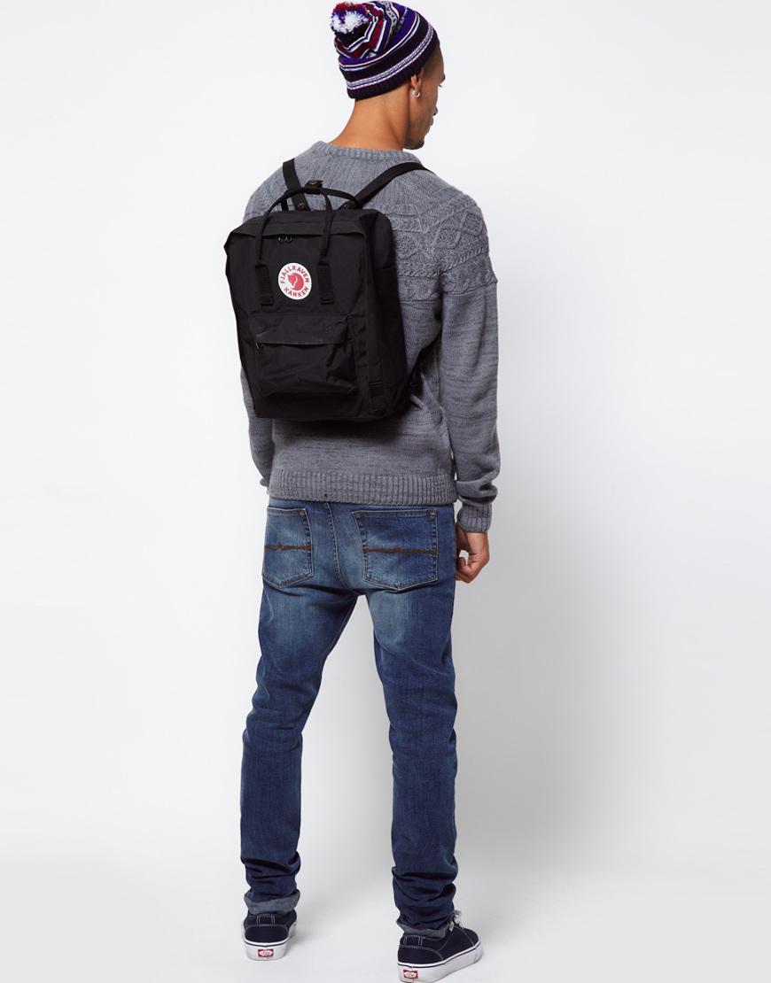 29cf61753d Lyst - Fjallraven Kanken Backpack in Black for Men