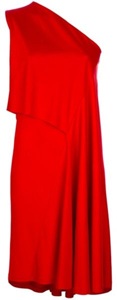 Givenchy Asymmetrical Dress in Red