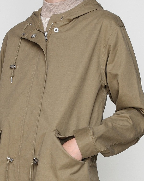 A.p.c. Gabardine Parka Mods in Natural | Lyst