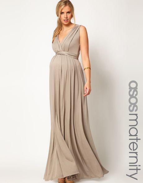 grecian maternity maxi dress