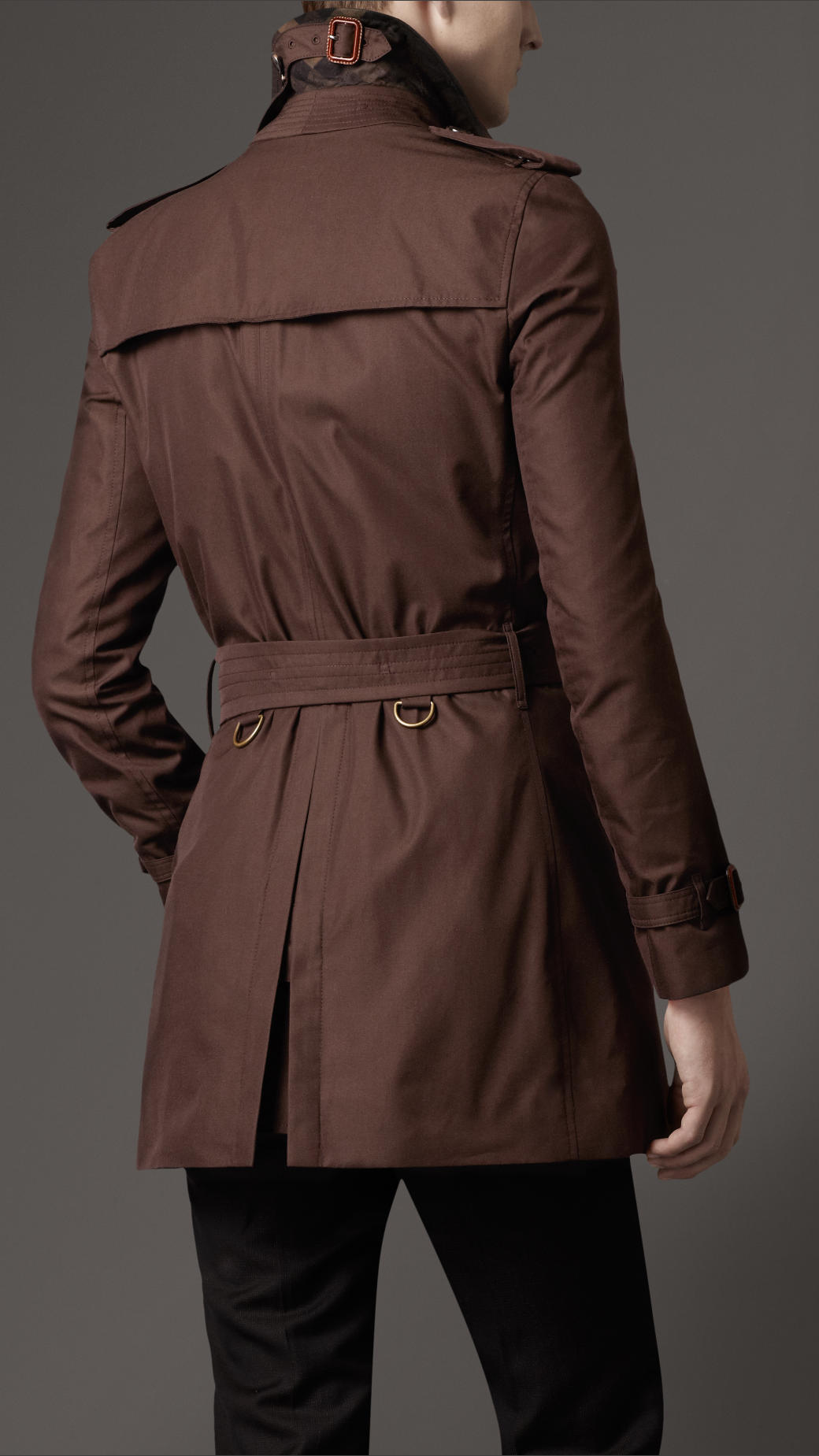 Lyst - Burberry Midlength Cotton Gabardine Trench Coat in Brown for Men 7dba6a3c8f3