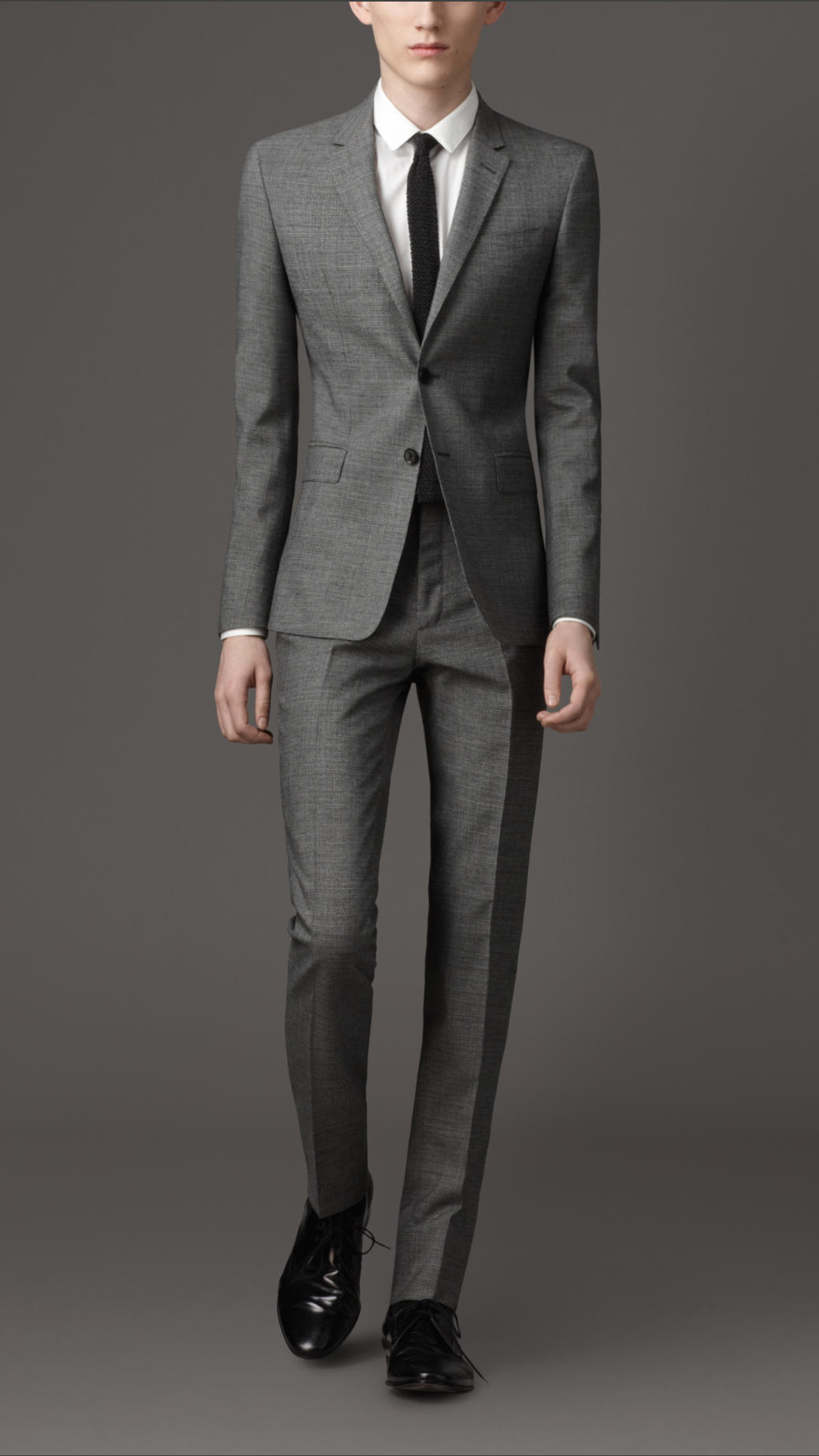 Burberry Wool and Mohair Slim Fit Suit in Gray for Men | Lyst