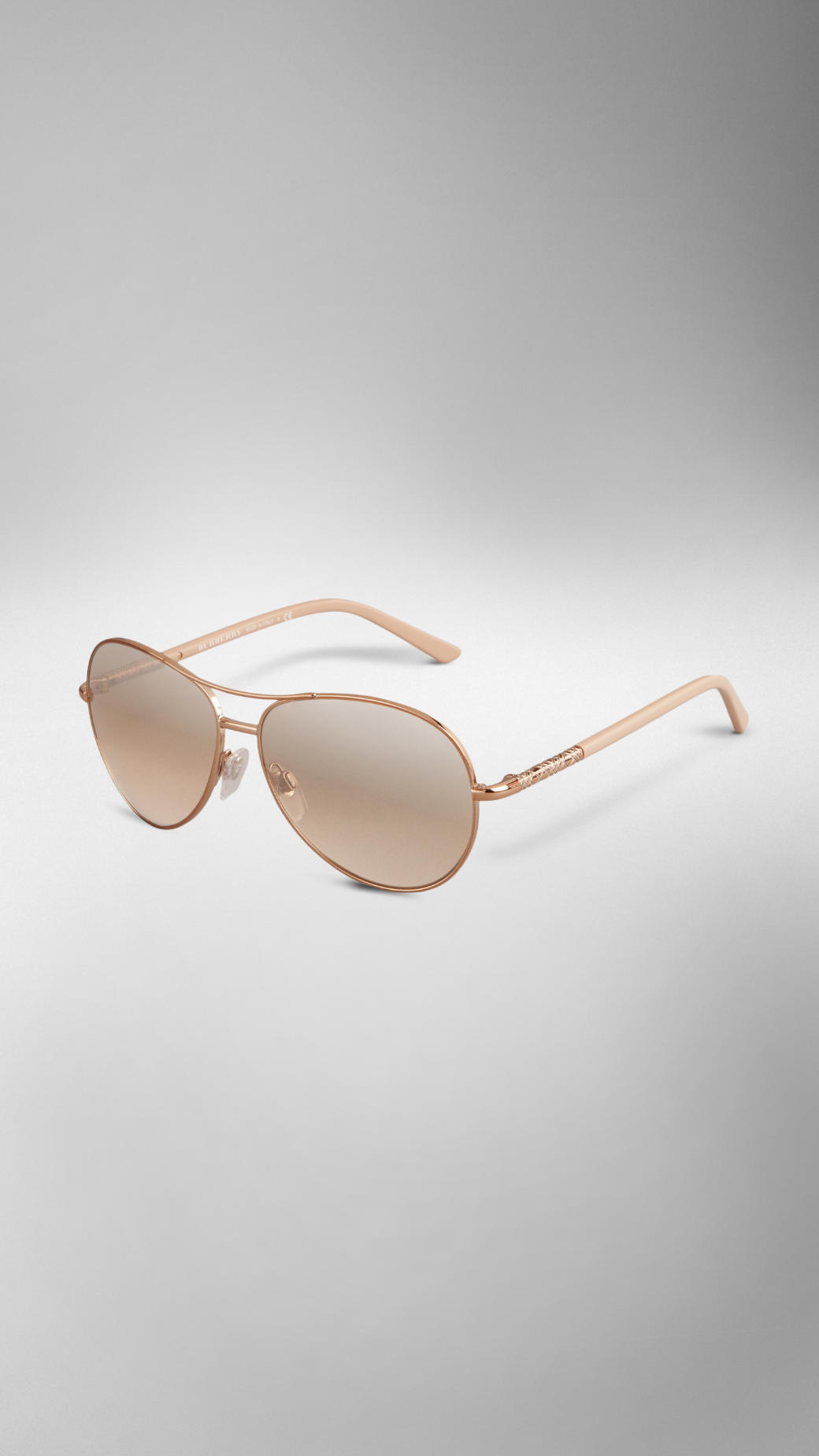 813802276d87 Burberry Nude Classic Aviator Sunglasses in Pink - Lyst
