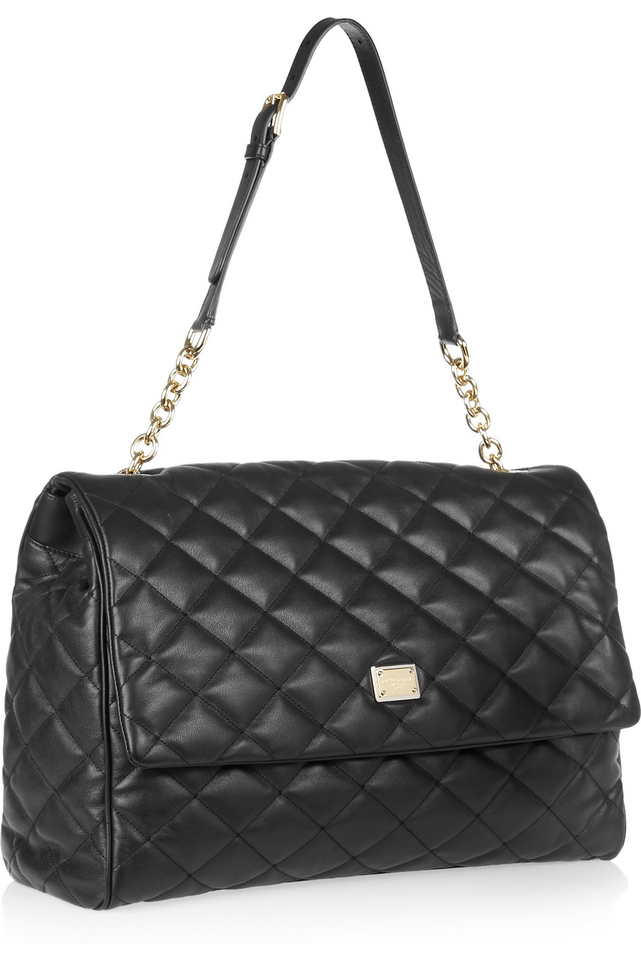 Dolce Amp Gabbana Oversized Quilted Leather Shoulder Bag In