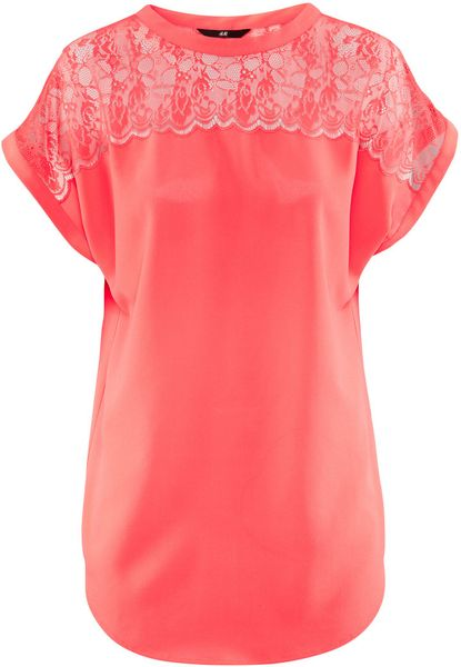 H&m Blouse in Red (coral)
