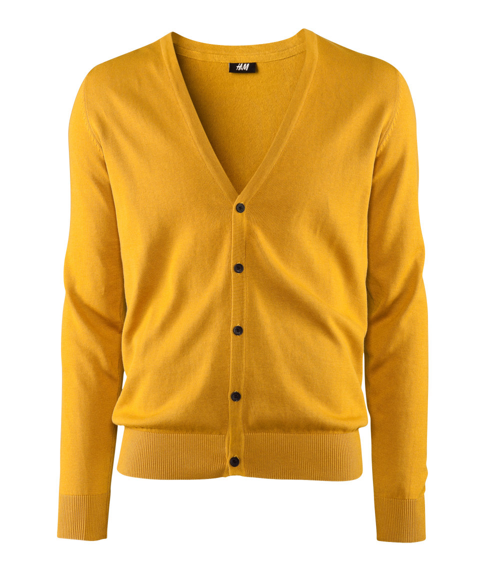 73f7cd541 Lyst - H M Cardigan in Yellow for Men