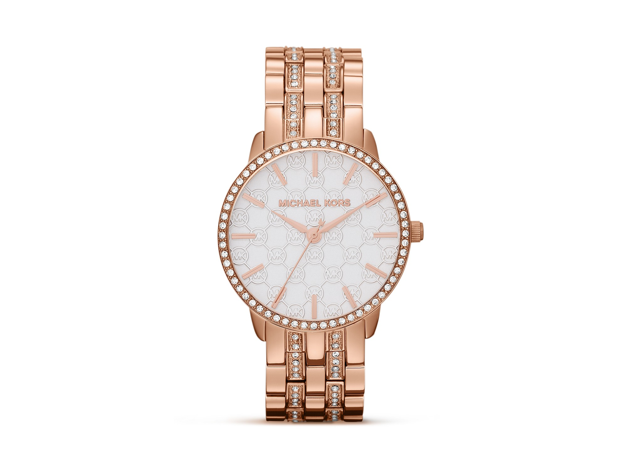 michael kors lady nini watch 35mm in gold rose gold lyst. Black Bedroom Furniture Sets. Home Design Ideas