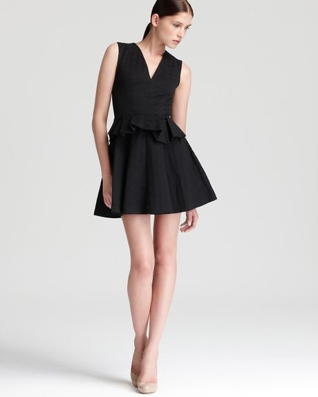 Robert Rodriguez Fit Flare Dress in Black