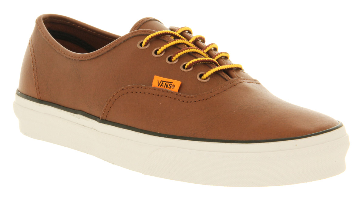 vans authentic brown leather
