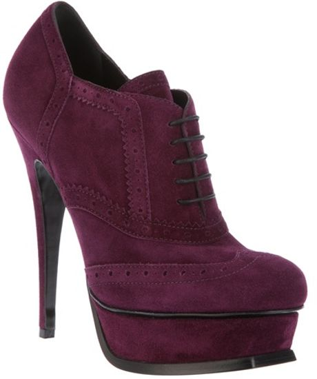 Saint Laurent Tribute Ankle Boot in Purple