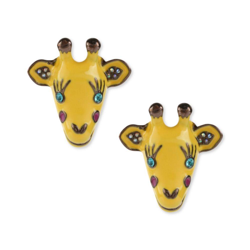 Betsey Johnson Gold Tone Giraffe Stud Earrings In Metallic Lyst