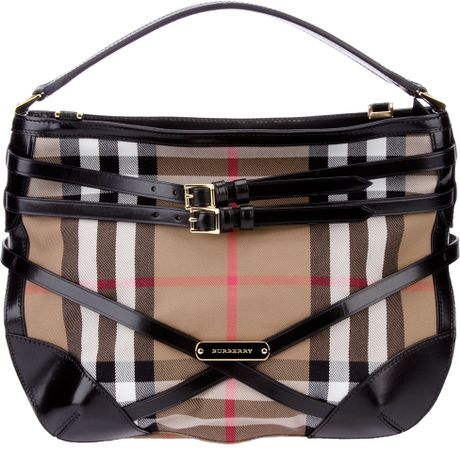 Burberry Bridal House Tote in Brown (black)