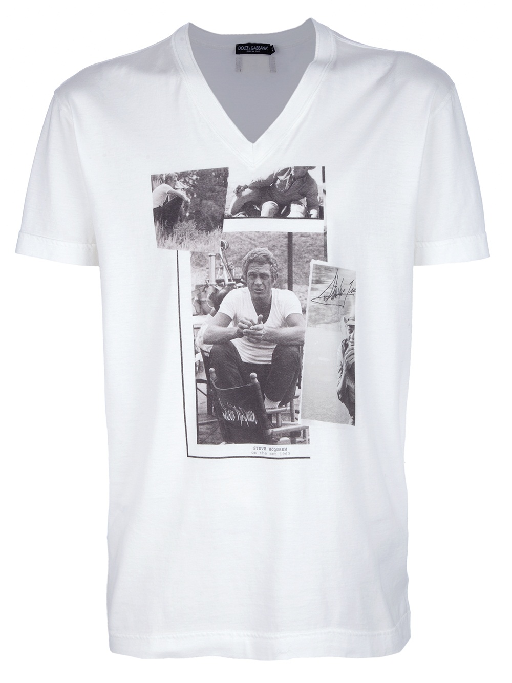 dolce gabbana steve mcqueen t shirt in white for men lyst. Black Bedroom Furniture Sets. Home Design Ideas