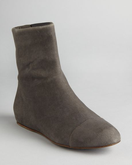 See By Chlo 233 Cap Toe Flat Booties Tascha In Gray Grey Lyst