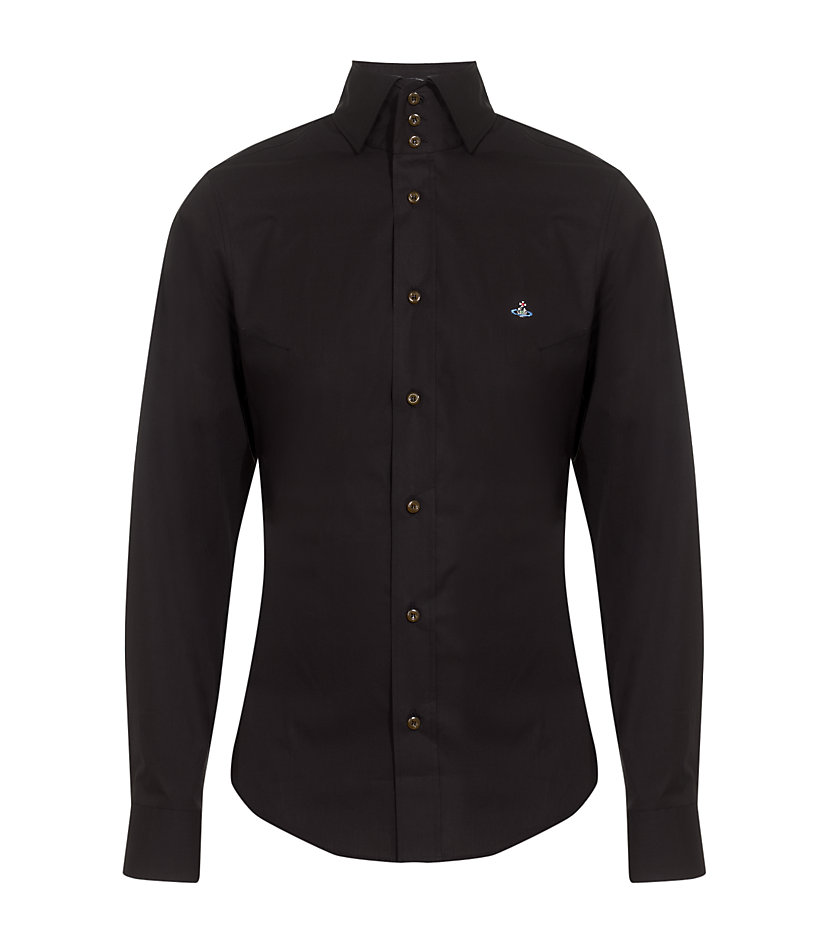 Lyst vivienne westwood high collar shirt in black for men for 3 button shirt collar