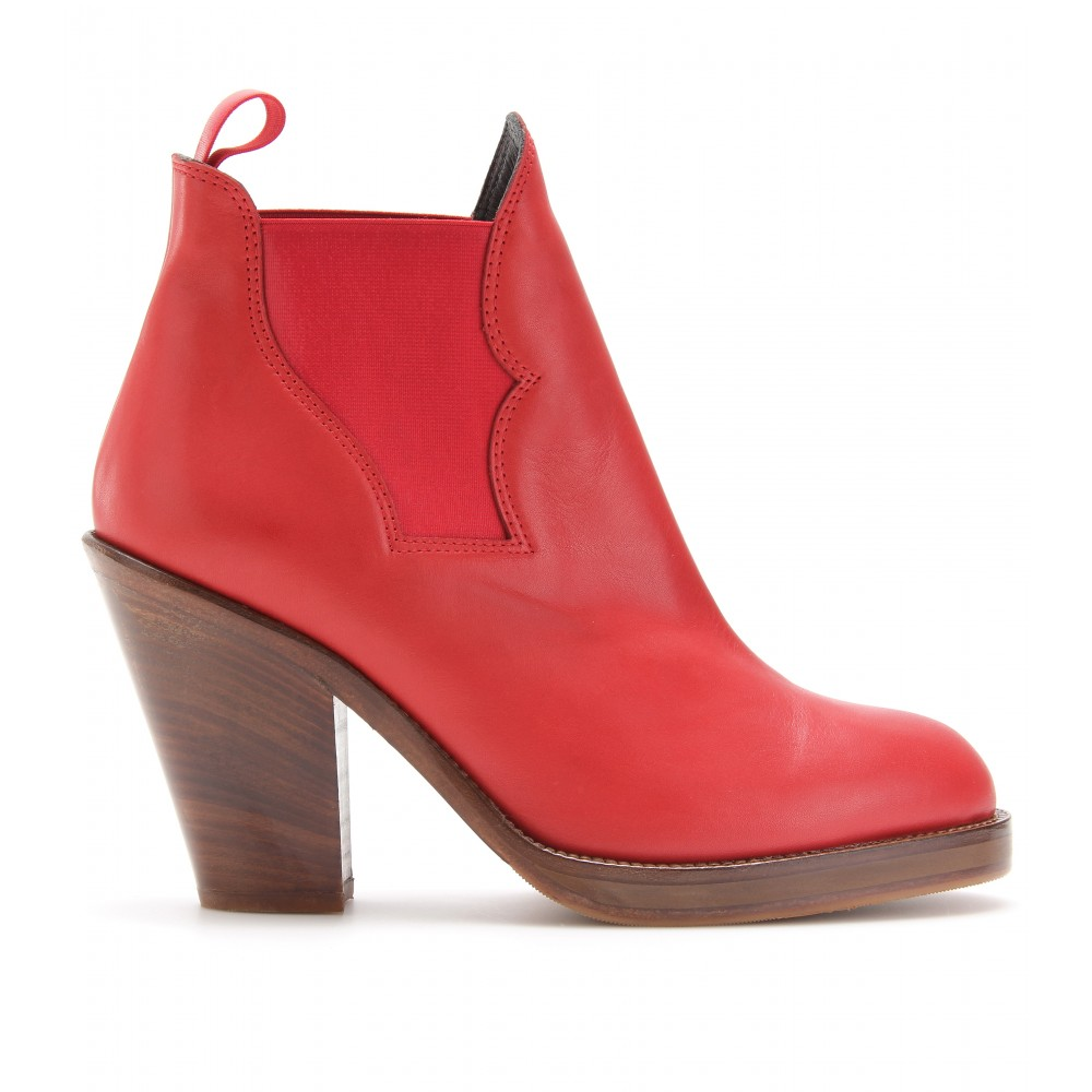 Acne Star Ankle Boot in Red