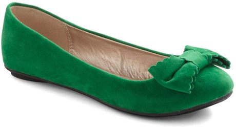 Modcloth Sonata Moment Too Soon Flat in Green