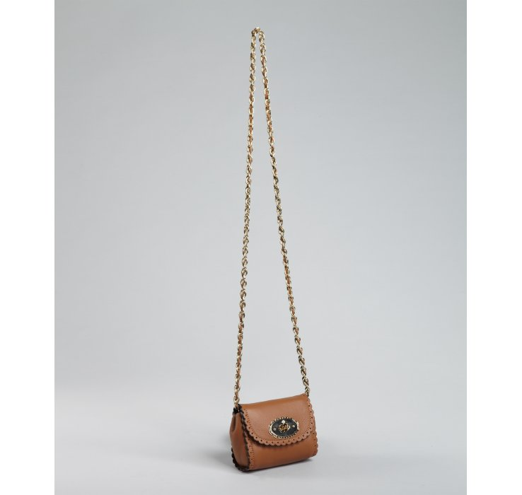 646f2e692dc6 ... czech lyst mulberry oak leather mini lily chain shoulder bag in brown  4cac8 fc67b ...