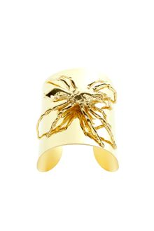 Tom Binns Spider Cuff in Golden Brass Metal with A Golden Brass Metal Spider - Lyst