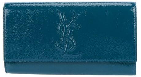 Yves Saint Laurent Belle De Jour Clutch in Blue (turquoise) - Lyst