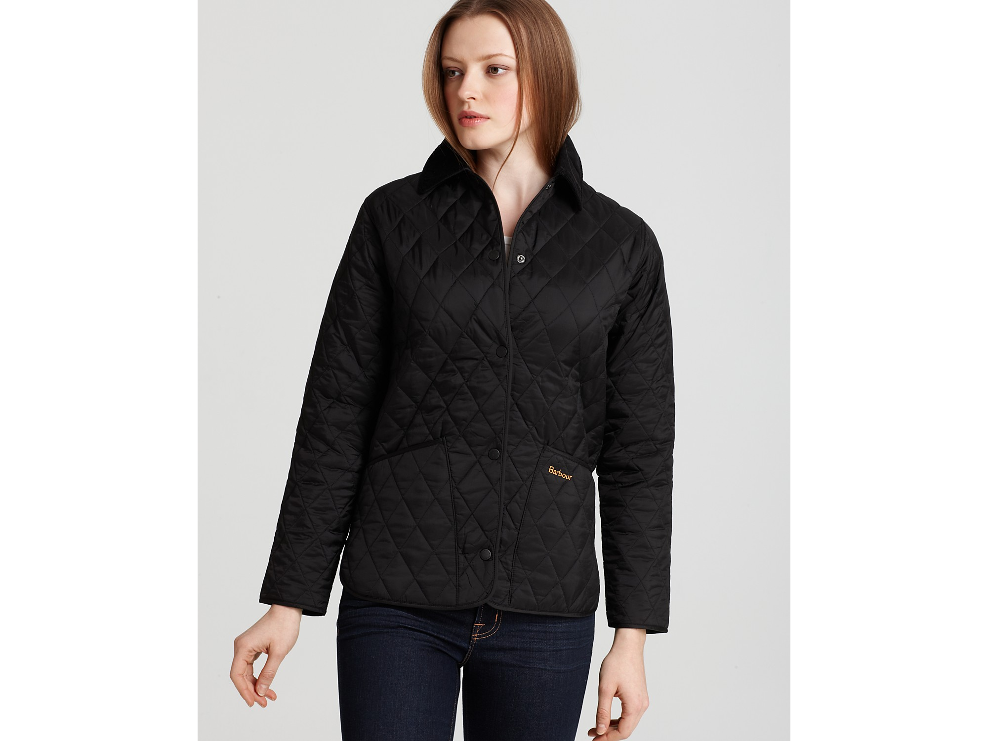 Lyst Barbour Shaped Liddesdale Quilted Jacket In Black
