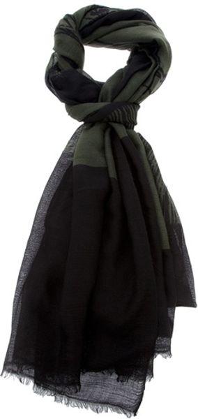 Dries Van Noten Kabuki Scarf in Green (khaki)