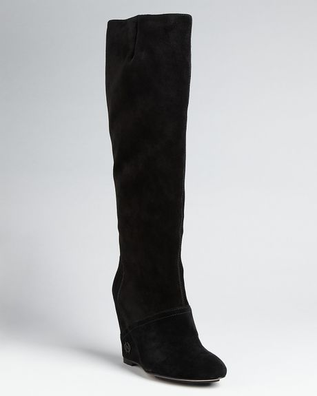 House Of Harlow 1960 Simona Wedge Boots  in Black