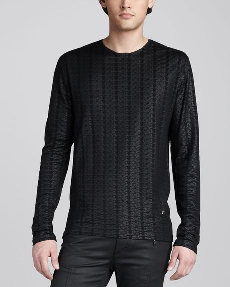 Versace Stamped Jersey Tee in Black for Men - Lyst