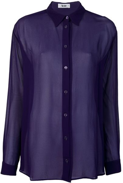 Acne Studios Shining Blouse in Purple