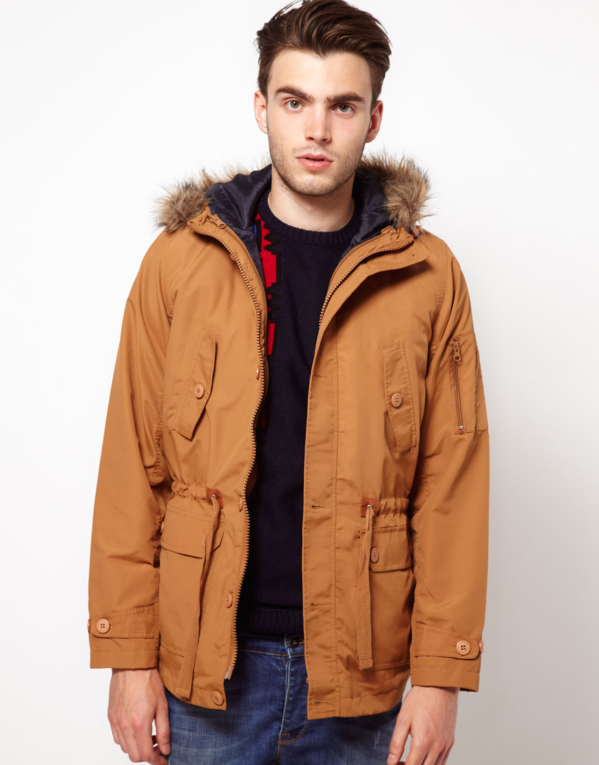 Asos Asos Parka Jacket with Removable Gilet in Brown for Men | Lyst