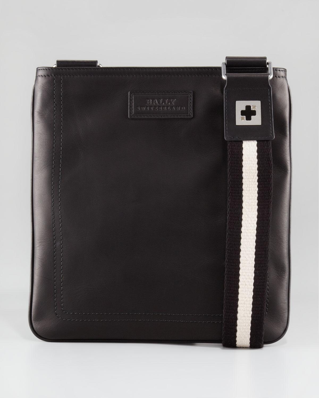 edc3082c91e4 Lyst - Bally Leather Messenger Bag in Black for Men