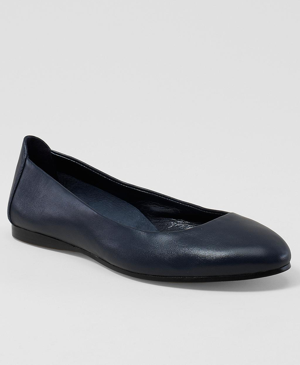 Brooks Brothers Ballet Flats In Navy Leather Blue Lyst
