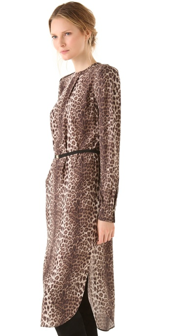 Malene In By Birger Brown Dress Leopard Lyst Diogene 6qCT5