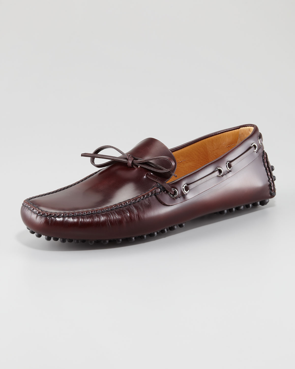 37ca9382c6a Lyst - Car Shoe Cordovan Calfskin Driver in Brown for Men