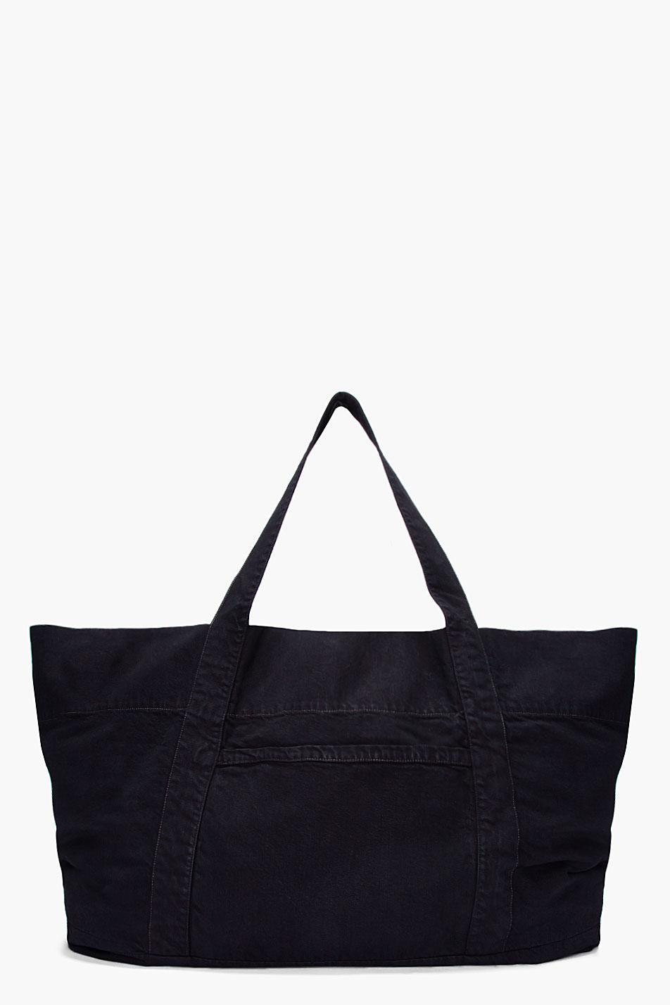 Drkshdw by rick owens Oversize Black Denim Beach Bag in Black for ...