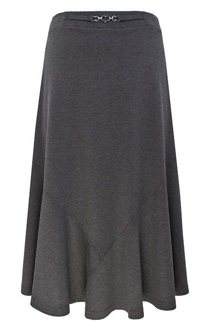 Eastex Dark Grey Ponte Skirt In Gray Grey Lyst