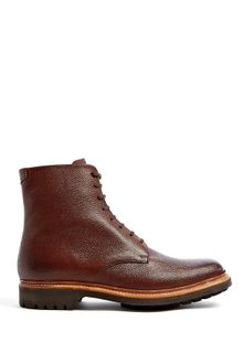 Grenson Brown Grain Hadley Commando Boots - Lyst