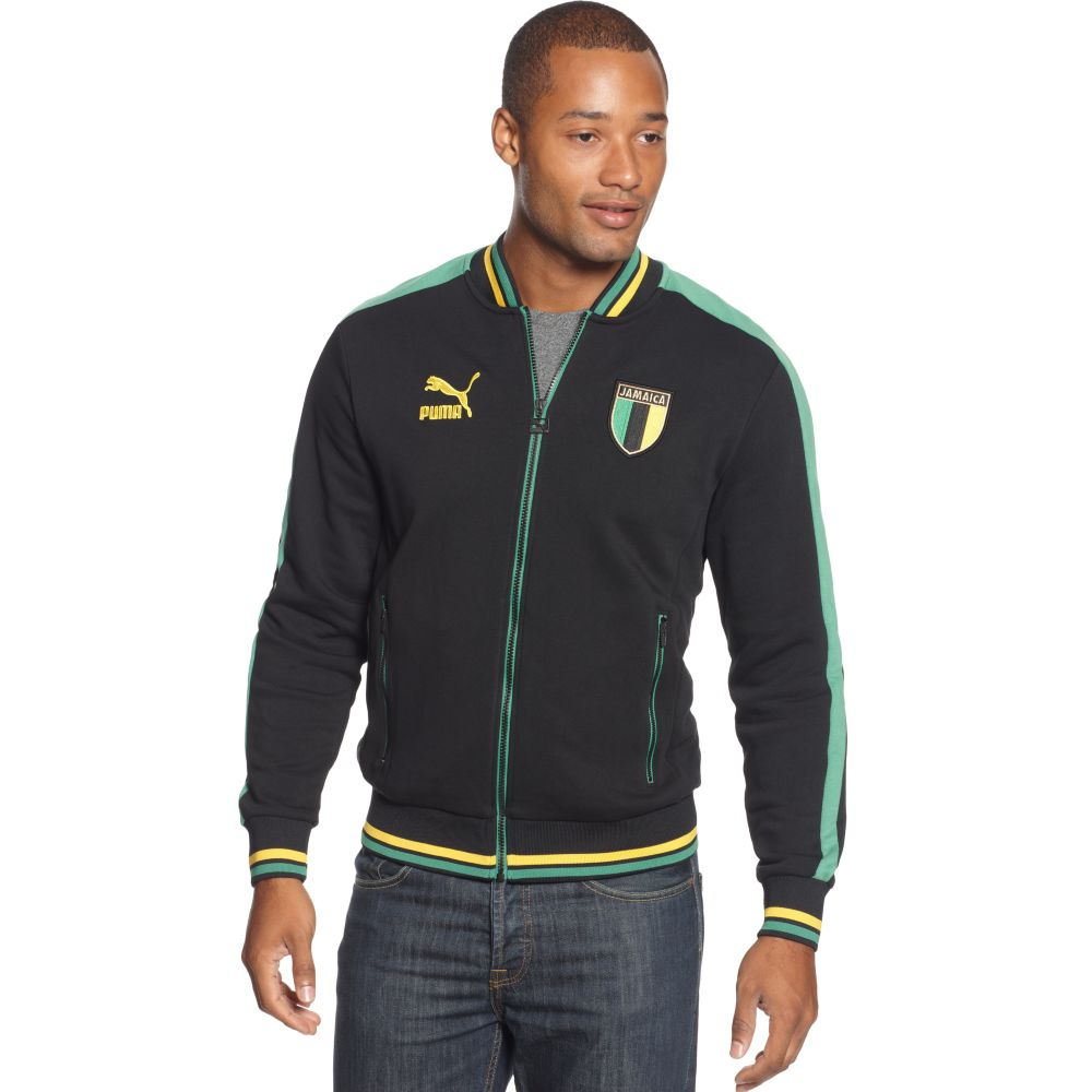 PUMA Jamaica Country T7 Track Jacket in Black for Men - Lyst