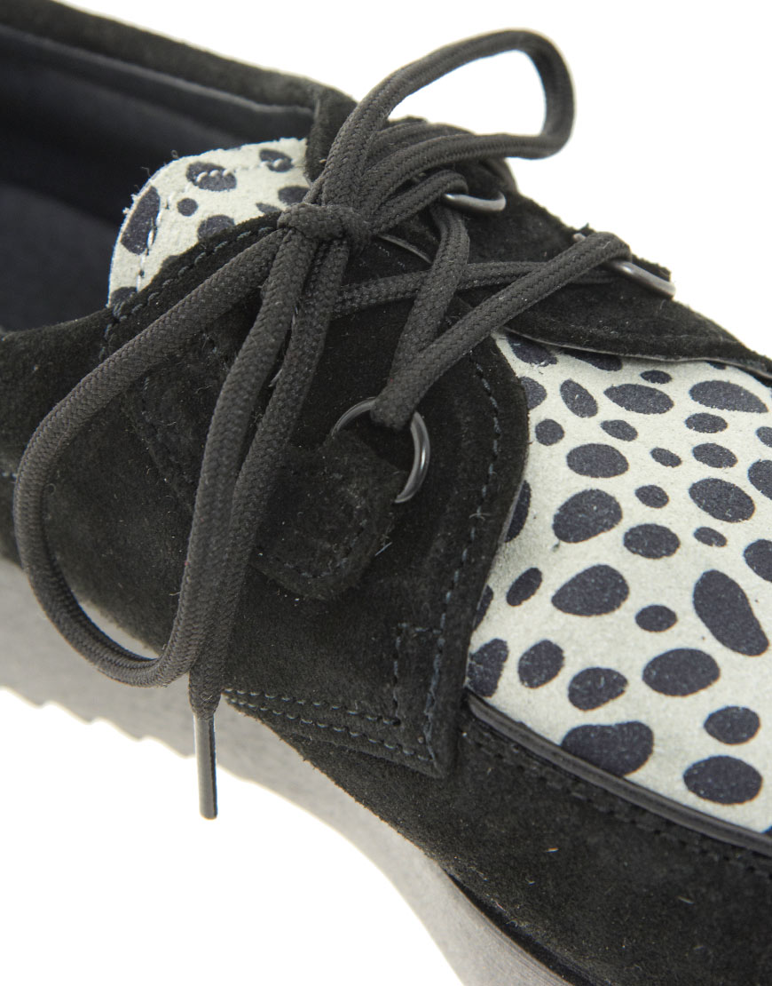 River Island Black Suede Creepers