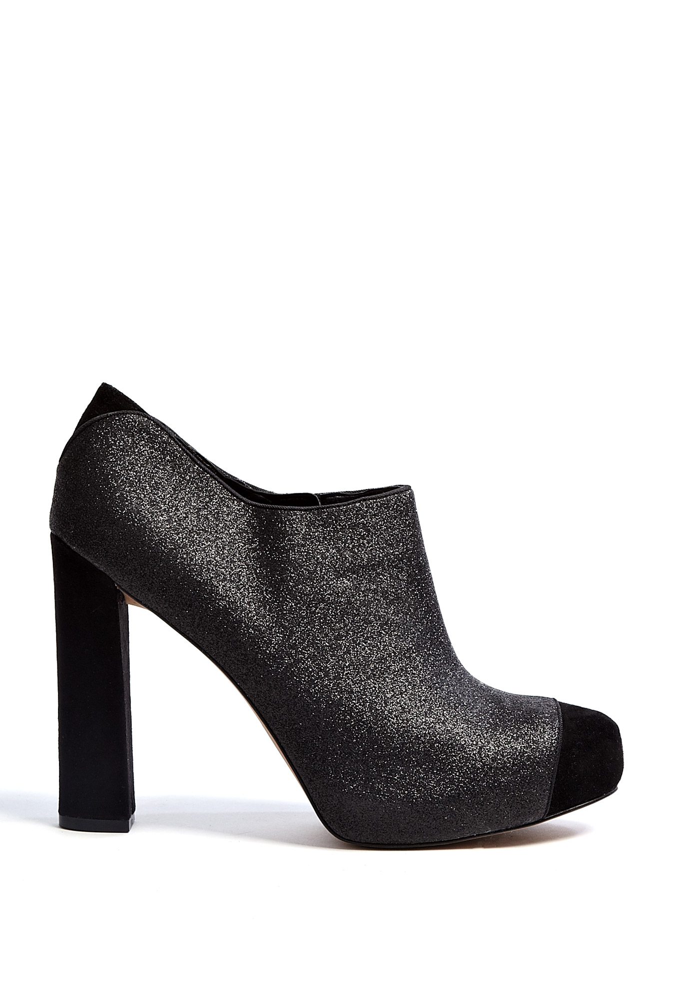 sam edelman felix stardust glitter and suede ankle boots