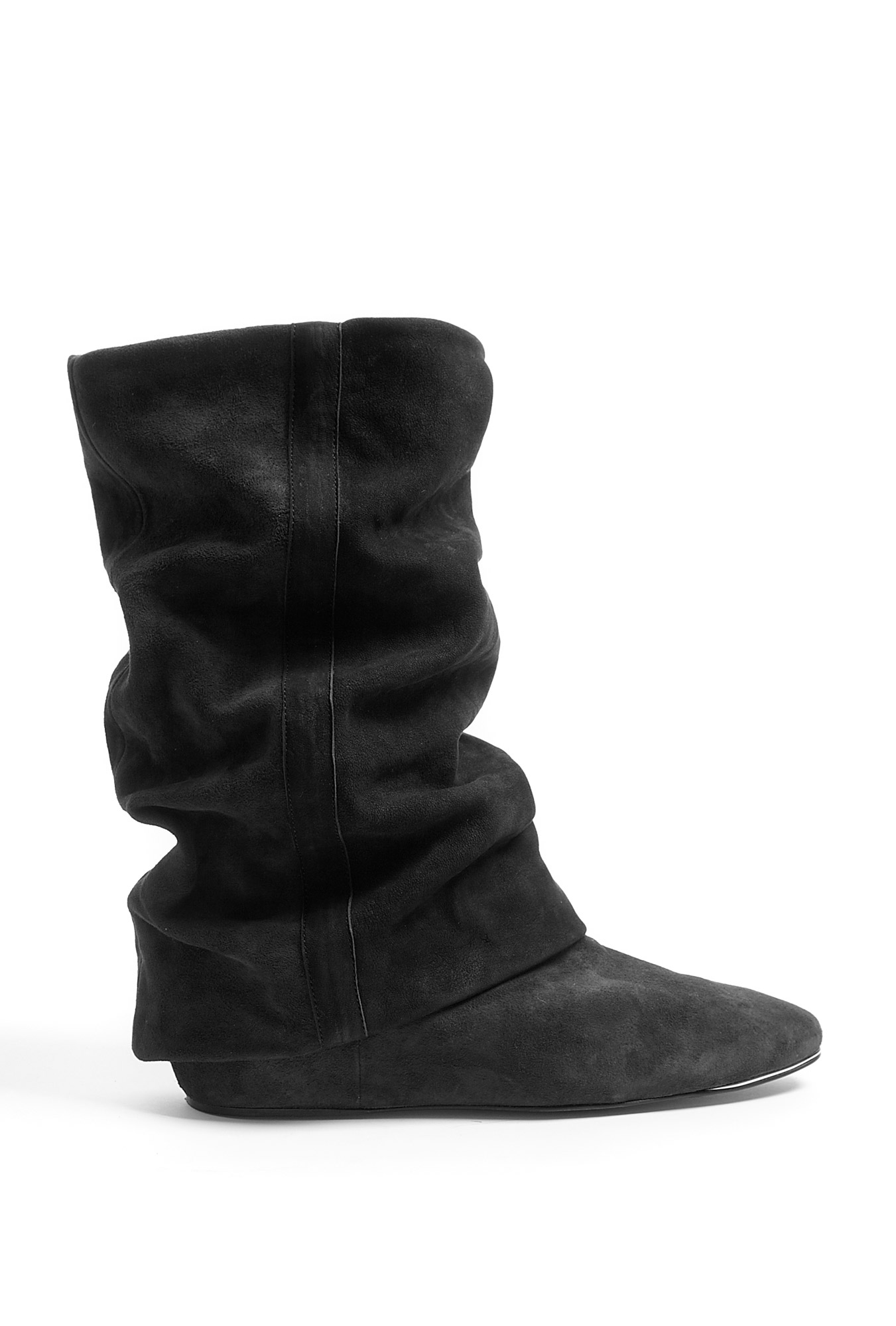 see by chlo 233 black suede fold flat boots in black lyst