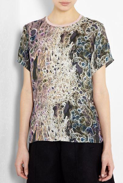 Theyskens' Theory Ispah Printed Tshirt in Gray