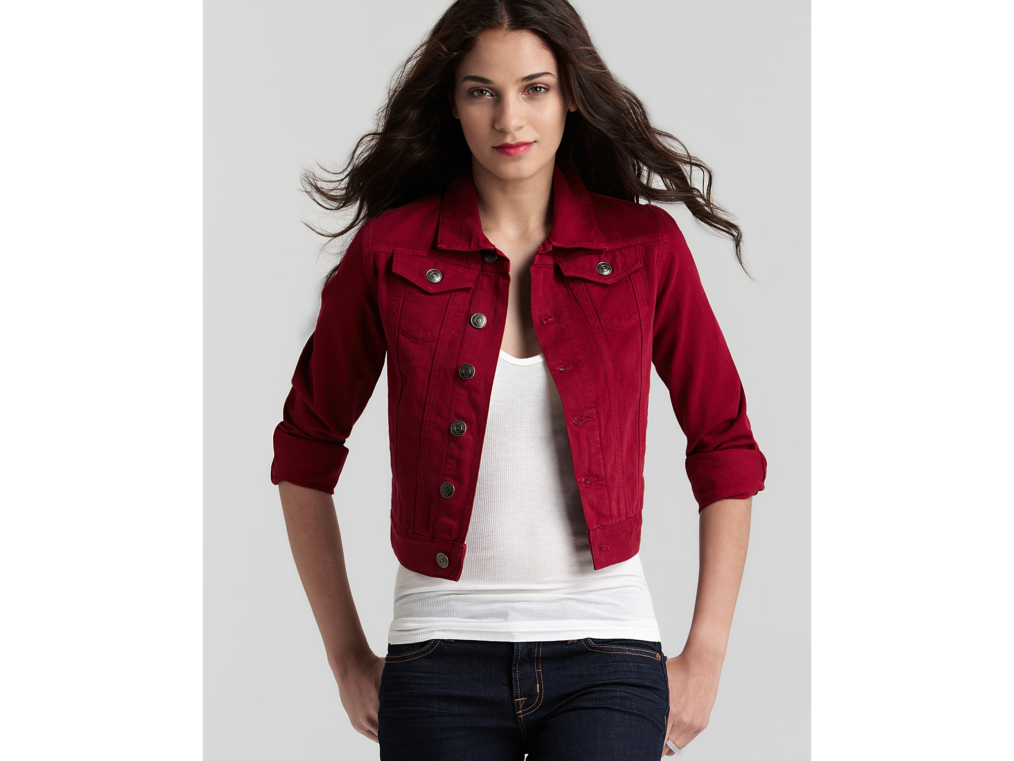 Find women's red denim jacket at ShopStyle. Shop the latest collection of women's red denim jacket from the most popular stores - all in one place.