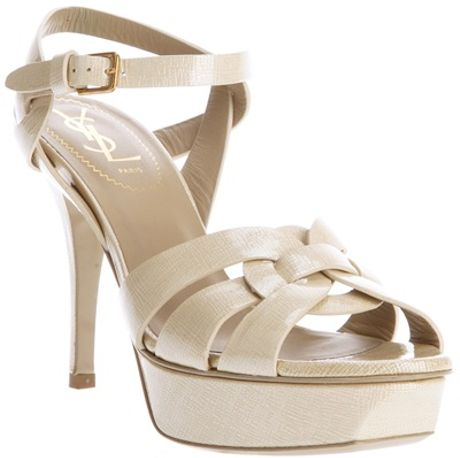 Saint Laurent Tribute 75 Sandal in Beige (nude)