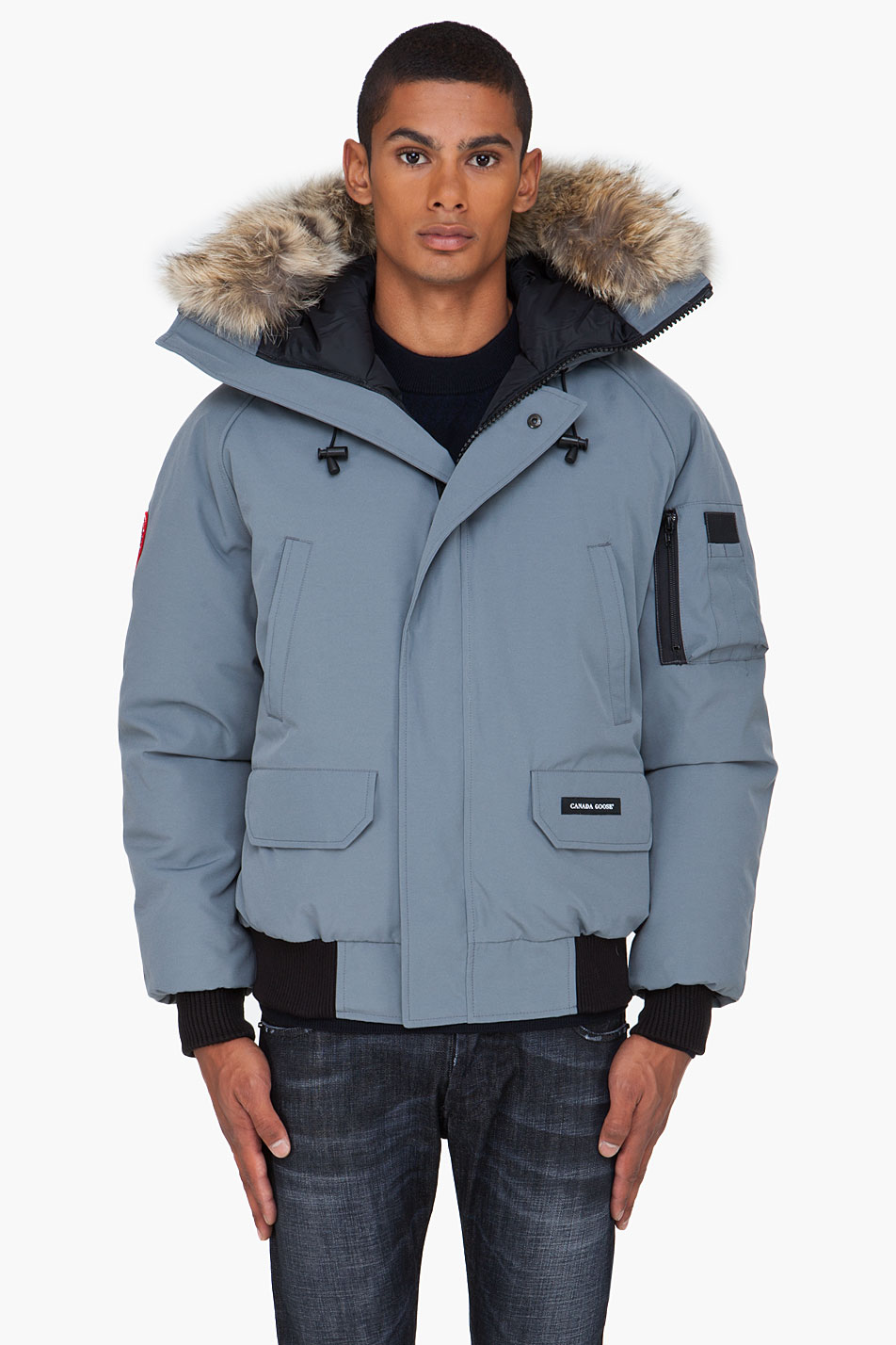 canada goose charcoal chilliwack bomber jacket in blue for. Black Bedroom Furniture Sets. Home Design Ideas